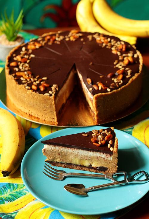 Banoffee bez cukru bez laktozy bez glutenu weganskie tort na zamówienie wrocław