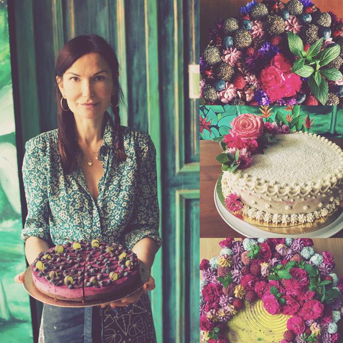 Asia właścicielka bez lukru torty kwiaty jadalne na zamówienie historia