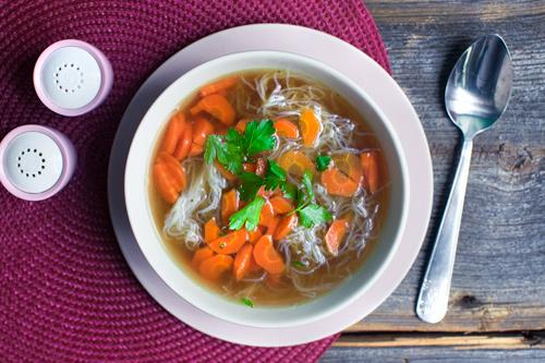 weganska zupa rosol bez glutenowy makaron na dowoz wroclaw